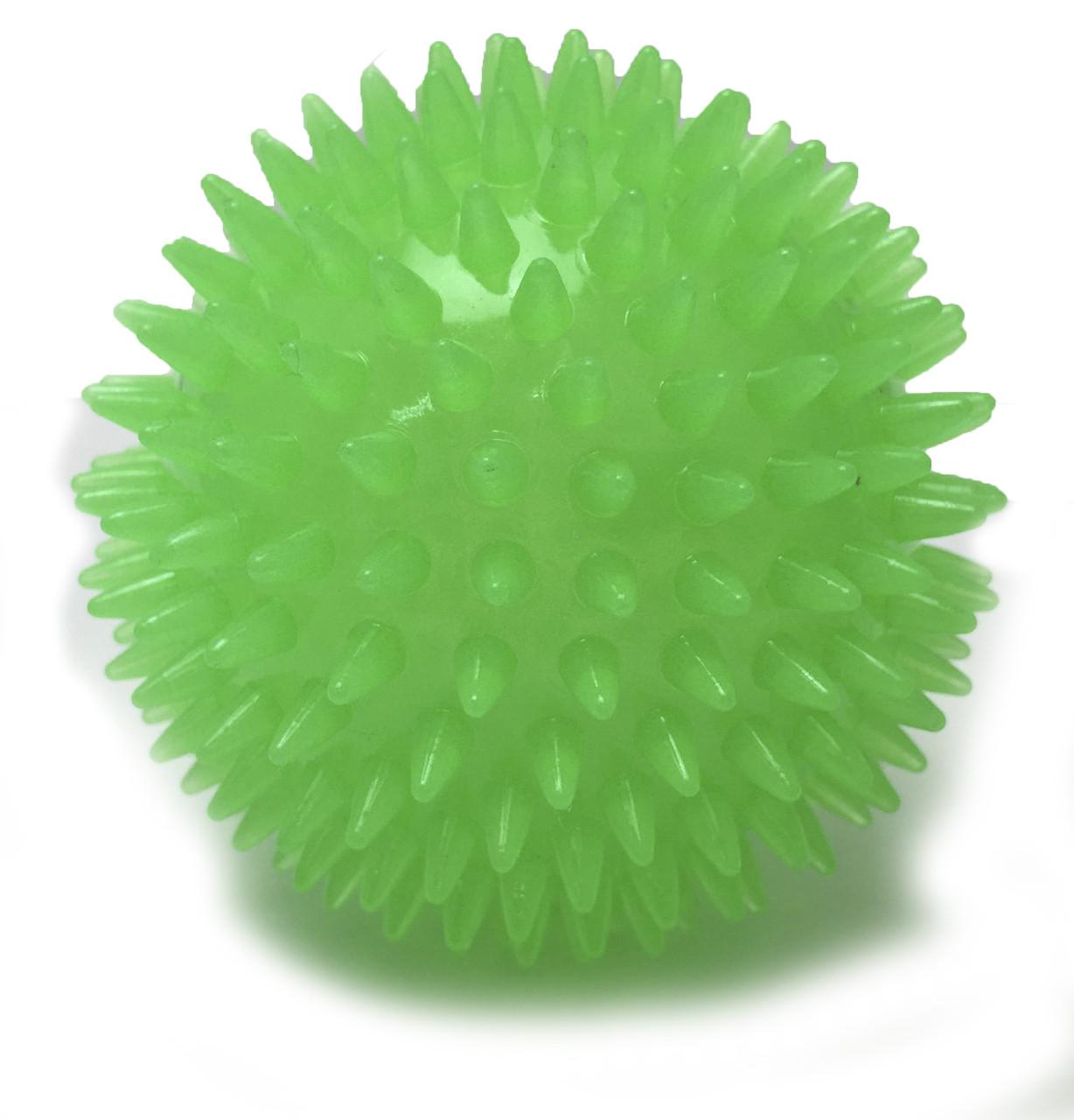 Игрушка для собак CROCI GLOW. Спайкибол, люминесцентный, высокопрочная резина, 9 см