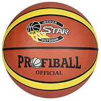 Мяч баскетбольный EV 8801-1  размер 7, резина, 12панелей, 580-600г,