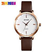 Наручные часы Skmei 1457 Gold-White-Brown