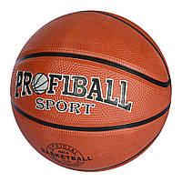 Мяч баскетбольный EN 3224  размер 6, резина, 550г, 1цвет, в кульке,