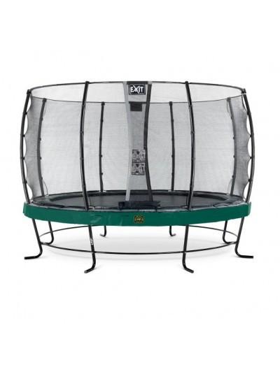 Батут EXIT Elegant Premium 427cm green с защитной сеткой стандарт