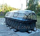 """Бассейн EXIT каркасный прямоугольный с куполом 400 х 200 х 100 см с насосом для фильтра с картриджем """"камень"""", фото 7"""