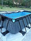 """Бассейн EXIT каркасный прямоугольный с куполом 400 х 200 х 100 см с насосом для фильтра с картриджем """"камень"""", фото 9"""