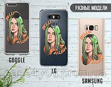 Силиконовый чехол для Samsung A730 Galaxy A8 Plus (2018) Билли Айлиш (Billie Eilish) (28217-1599), фото 3