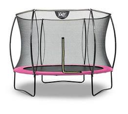 Батут EXIT Silhouette 244 см с защитной сеткой розовый