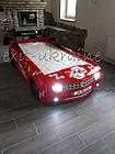Кровать-машина Chevrolet Camaro пластик красная, фото 5