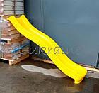 Гірка пластикова Hapro 2.2 метра жовта, фото 2