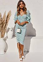 Платье женское со сборками Spring Berni Fashion