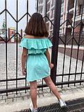 Детский сарафан с воланом на плечах 122-140см, фото 6