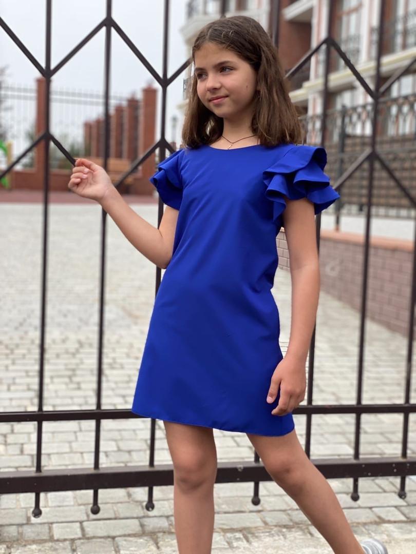 Детское платье Воланы 122-140см
