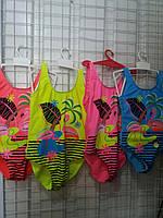 """Детский купальникцельный для девочки """"Фламинго"""" 3-7лет, цвет уточняйте при заказе"""