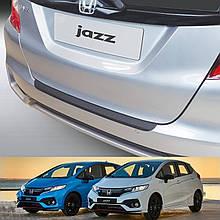 Пластикова захисна накладка на задній бампер для Honda Jazz / Fit (GK) Mk3 LIFT 2017-2020