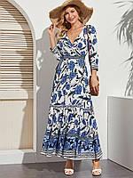 Платье женское в стиле Бохо Blue peony Berni Fashion