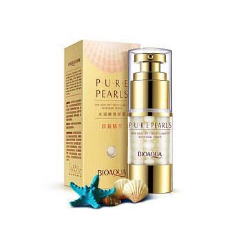 Крем с экстрактом жемчуга BIOAQUA Pearl Essentials Eye Serum для кожи вокруг глаз 25 мл Оригинал