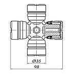 Крестовина карданного вала  ГАЗ 53 (35х98), фото 4