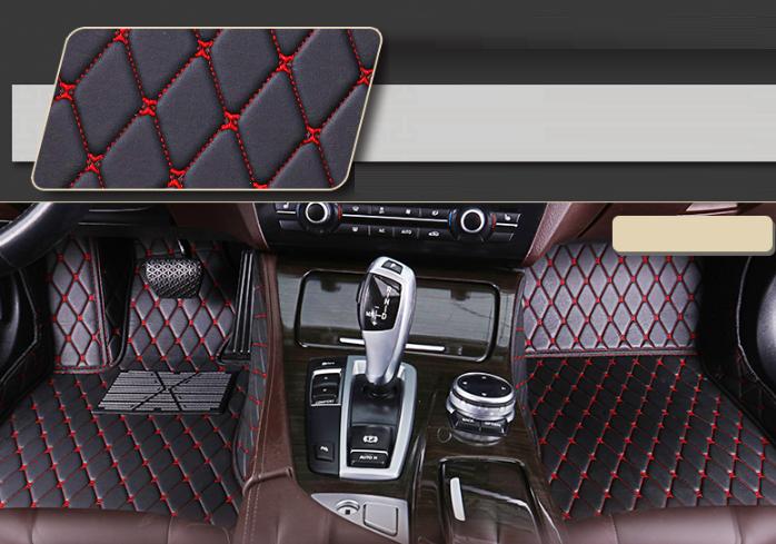 Передние коврики 3D для BMW 5 E60 2003-2010 (европеец) кожаные с высокими бортиками