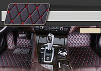 Передние коврики 3D для BMW 5 E60 2003-2010 (европеец) кожаные с высокими бортиками, фото 1