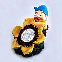 Светильник садово-парковый на солнечной батарее Lemanso Cab125 гном с цветком