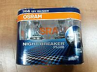 "Лампа галогеновая Н4 12V 60/55W 43 цоколь ""OSRAM"" Night Breaker Plus +90% - производства Германия, фото 1"