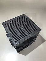 Дождеприемник PolyMax Basic 30/30 см пластиковый черный не комплект