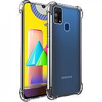 Силиконовый противоударный чехол Samsung Galaxy M31 (2020) Прозрачный
