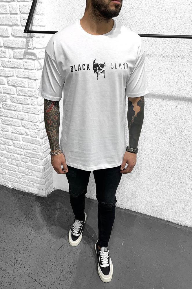 Мужская футболка оверсайз Black Island 1120 white