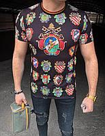 Мужская футболка черная D&G 122 (реплика), фото 1