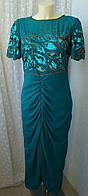 Платье женское вечернее декор бренд р.46 3612