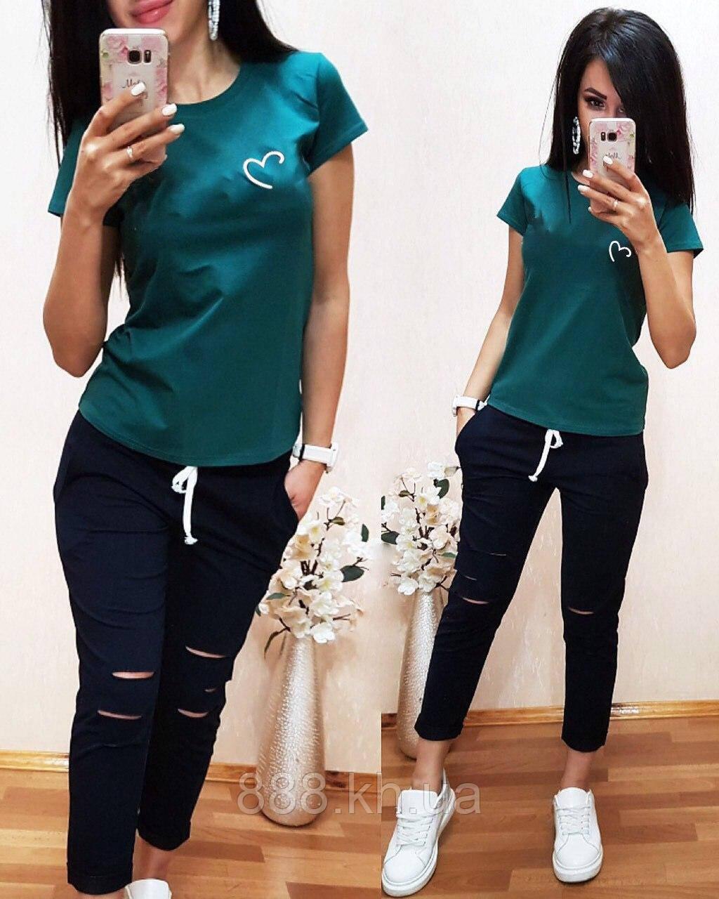 Женская футболка на лето, легкая футболка для девочек S/M/L/XL (зеленый)
