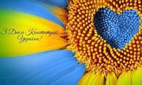 Поздравляем с днем Конституции Украины