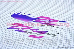 "Наклейки на планшете ""ZZ Sepia"" фиолетовые набор 3шт 36х7"