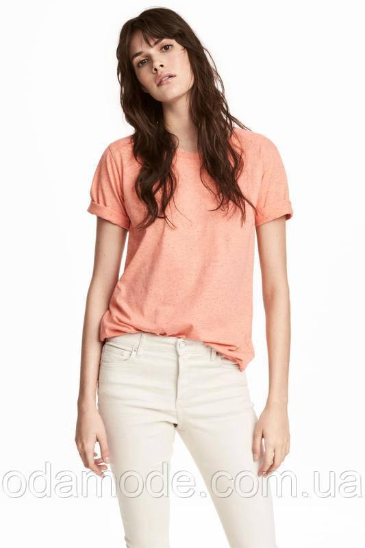 Футболка женская H&M оранжевая