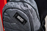 Рюкзак спортивний чоловічий OFF WHITE GRAY TROW сірий, фото 4