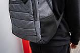 Рюкзак спортивний чоловічий OFF WHITE GRAY TROW сірий, фото 3