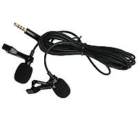 Петличний мікрофон подвійний (петличка) для телефону, планшета Alitek LavMic Dual