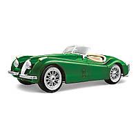 Автомодель Jaguar XK 120 1951 вишневий, сріблястий, зелений 1:24 Bburago (18-22018)