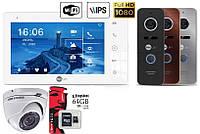 Комплект домофона с камерой Neolight NeoKIT HD Pro WF + карта 64Гб