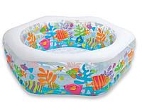 Детский надувной бассейн Intex 56493 «Океанский Риф» (191*178*61 см)
