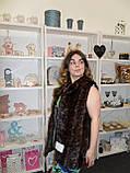 Норка від 3500 норковий жилет лобики 46 48 М розмір в розстрочку жилет норка недорого в Харкові, фото 3