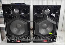 Стерео колонки Wimpex 12 дюймів, 2х200W, Bluetooth, мікрофон, пульт Пара