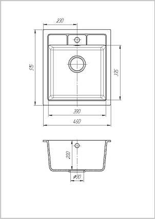 Кухонна мийка Galati Adiere Bezhvy (401), фото 2