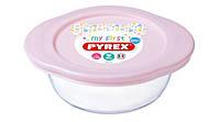 """Форма для запікання """"Pyrex Baby Pink"""" 14x12x5см 0.35л скло кругл. №75378(3)"""