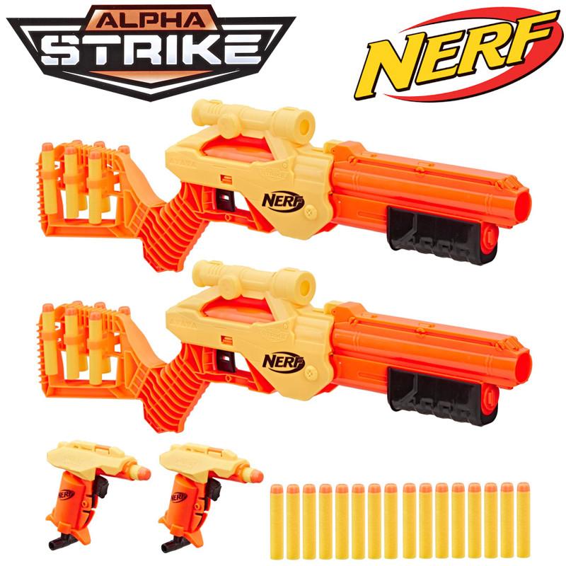 Игрушечное оружие НЁРФ Альфа Страйк Набор Линкс и Стингер (4 бластера) (E7579)