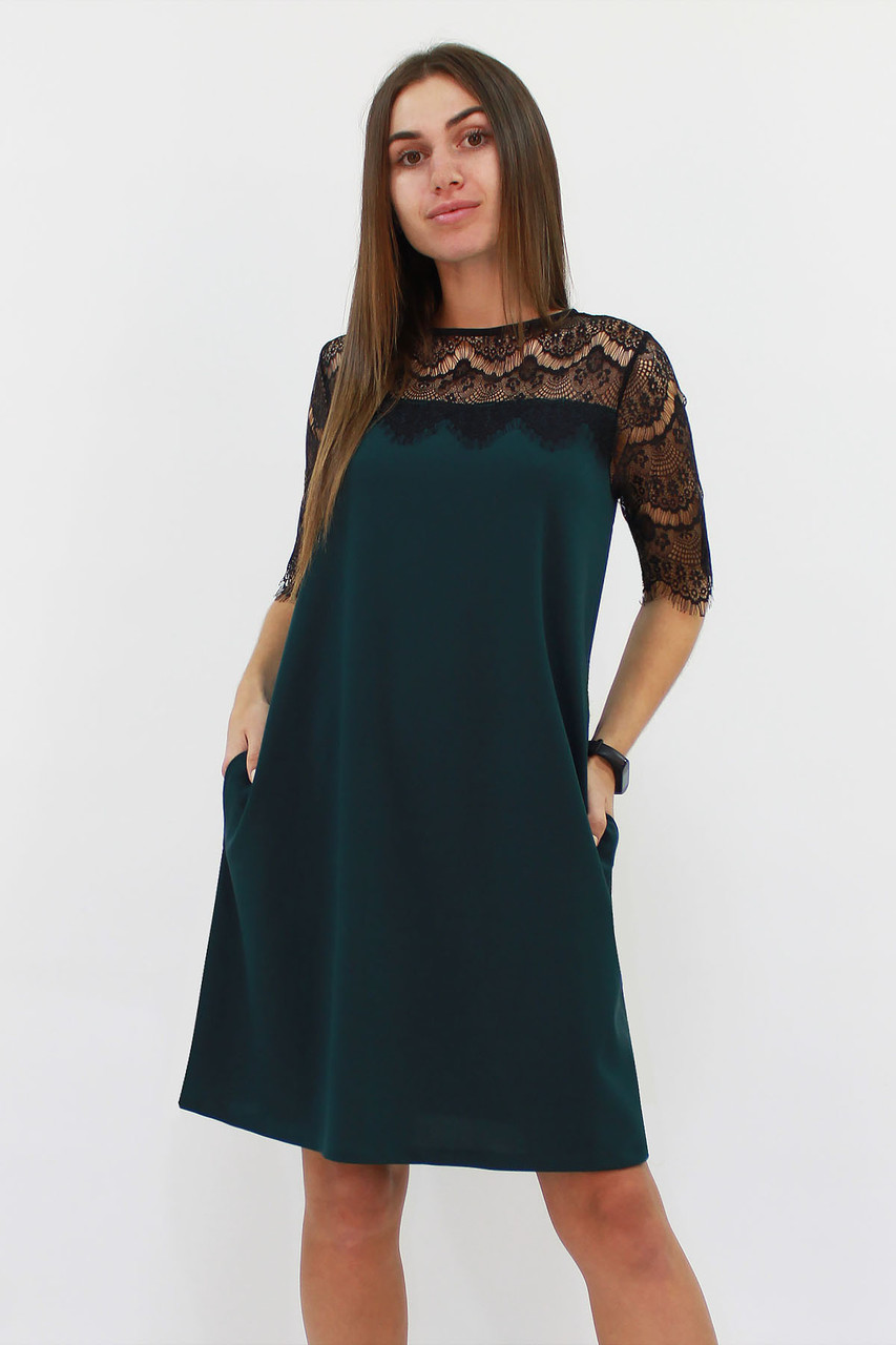 S, M, L | Коктейльне жіноче плаття Arizona, темно-зелений
