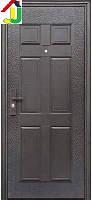 Двері вхідні Супер Економ Метал/Метал Права 860Х2050 мм порошкове фарбування, для Офісу, для Гуртожитків і Вдома
