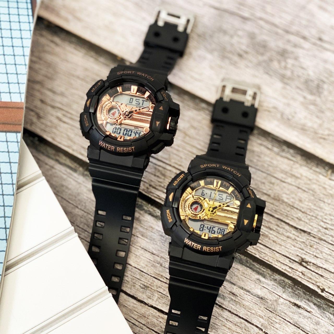 Часы електроные sanda 599 черные