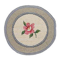 Салфетка под тарелку на стол гобеленовая круглая  10 см