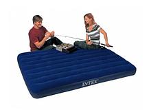 Надувной двухспальный матрас велюровый 152x203x25. INTEX 64759
