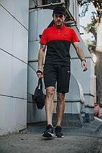 Мужской летний комплект в стиле Nike (шорты+поло+кепка Найк) + БАРСЕТКА  в подарок