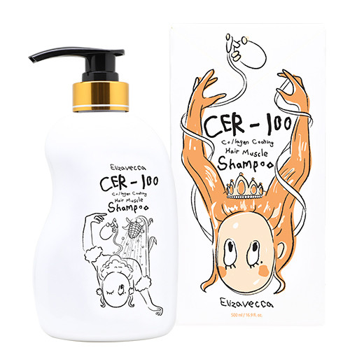 Шампунь для волос Elizavecca CER-100 Collagen Coating Hair Muscle Shampoo, 500 МЛ